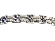 DIAMOND ROUND BR SHAPE MENS BRACELET