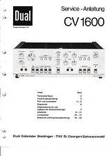 Service Manual-Instructions pour DUAL CV 1600