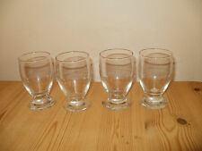 Clear Glass Glasses SET OF FOUR Great for Orange Juice (340)