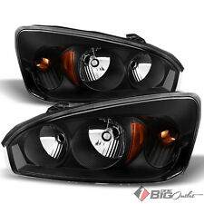 For 04-07 Malibu Black Housing Headlights Assembly Bulbs Replacement LH+RH Set