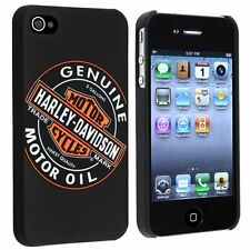 Licensed Harley Davidson Motor Oil Logo Hard Snap-On Case for Apple iPhone 4 4S