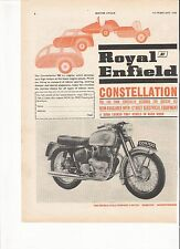 Royal Enfield Constellation classic period motorcycle advert February 1963