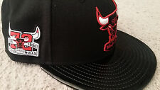 New Era Chicago Bulls Black Red Air Jordan Retro XI 11 72-10 Snapback Hat Bred 1