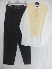 BOYS BHS GOLD PAGE BOY WEDDING/CHRISTENING OUTFIT WITH WAISTCOAT AGE 11/12
