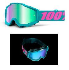 100% pour cent MX motocross lunettes Accuri passion vert miroir turquoise ski