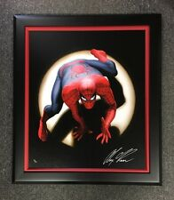 ALEX ROSS rare SPIDER-MAN Marvels FRAMED NEW giclee CANVAS Signed with COA