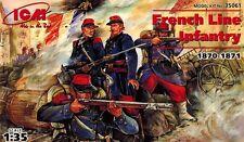 ICM 35061 - French Line Infantry 1870 1871 -  französchische Soldaten - 1:35