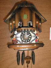 German made working musical Chalet with Dancers 1 Day Cuckoo Clock CK1071