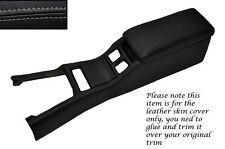 GREY STITCH CENTRE CONSOLE COVER&ARMREST LEATHER COVERS FITS TOYOTA SUPRA MK3