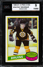 1980 81 OPC O PEE CHEE 140 RAY BOURQUE RC KSA 8 NM MINT BOSTON BRUINS ROOKIE HOF