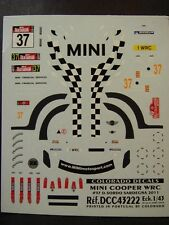 DECALS 1/43 MINI COOPER WRC #37 D.SORDO SARDAIGNE 2011   - COLORADO  43222