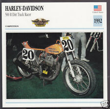 1992 Harley-Davidson 500cc R Dirt Track Racer Chris Carr Motorcycle Photo Card