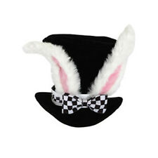 White Rabbit Ears Top Hat Alice in Wonderland Adult Costume Accessory Hat Cap