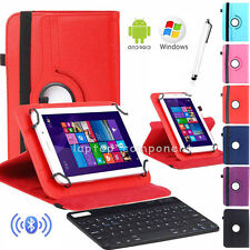 "Universal Bluetooth Keyboard+Rotate Leather Stand Case For All 10"" 10.1"" Tablets"