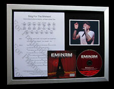 EMINEM Sing For The Moment GALLERY QUALITY CD FRAMED DISPLAY+EXPRESS GLOBAL SHIP