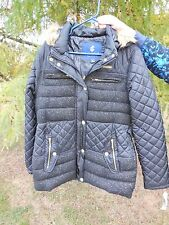 NEW WOMENS SIZE XL ROCAWEAR BOROUGHS OF HONOR WINTER JACKET BLACK & GOLD SPARKLE
