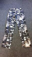 Death Kitty Grey/Urban Camo/Camouflage Zip/Bondage Trousers/Jeans Cyber/Punk W28