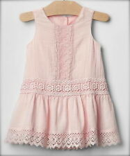 Baby Gap Vintage Light Pink Lace Dress 6-12 Months NWT! VHTF! All Seasons