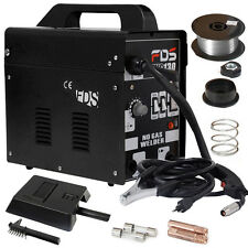 MIG 130 Welder Flux Core Wire Automatic Feed Welding Machine w/ Free Mask New