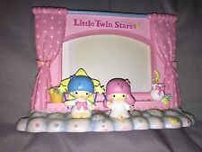 "Little Twin Stars Photo Frame Picture Sanrio Hello Kitty Pink Window 3.5""x5"""
