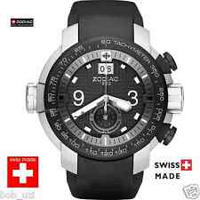 "$945 Zodiac ""Special Ops"" Swiss Tachymeter Chronograph Rugged Mens Watch PVD cas"