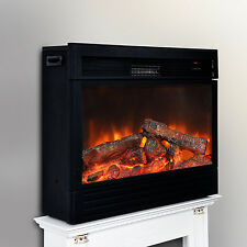"29.7"" Electric Fireplace Free Standing Heater Remote Control Home 750 / 1500W"