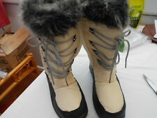 Ladies Fur top Mid calf , rain, snow boots, size 4, New