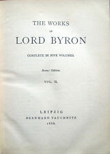 1866 – THE WORKS OF LORD BYRON, VOLUME II – LETTERATURA INGLESE – POESIA INGLESE