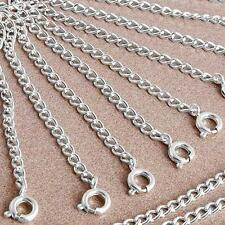 20 X Silver Plated Necklace Chain Extender with Clasp HOT