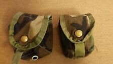 USGI Issue M67 Frag Woodland Molle II Grenade Pouch lot of 2