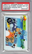 Pokemon Japanese Carddass Vending Series PSA 10 Raichu and Others