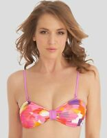 Baku Bejewelled Bandeau Bikini Top Pink Purple Orange Multi Size 12 NEW