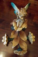 Paor fata  girasoli  portatovaglioli folletto dei boschi scultura introvabile