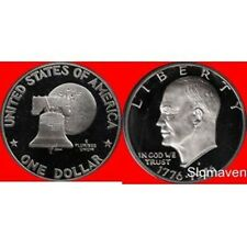 1976 S Eisenhower Dollar Type 1 Deep Cameo Gem Proof