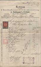 WIEN XV., Rechnung 1909, I. Neufünfhauser Leichenbestattung J. Gebauer`s Erben