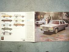 1980 FORD LTD BROCHURE – LTD S, available in WAGON, CROWN VICTORIA