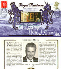 6 JAN 2000 ROYAL RESIDENCES HOLYROOD HOUSE BENHAM COVER SIGNED NICHOLAS OWEN