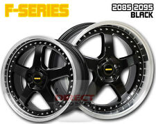 4x FR BLACK 20 inch Staggered Alloy Wheel FORD FALCON AU BA BF FG XR6 XR8 G6E
