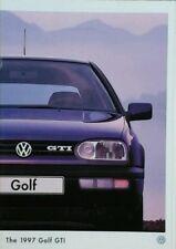 VOLKSWAGEN GOLF GTI OPUSCOLO VENDITE-MARZO 1997 Inc separati SPEC & equip guide.