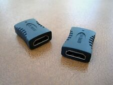 2 x HDMI Female to Female 3D HD 1080P Coupler Coupling Joiner Extender Adapter
