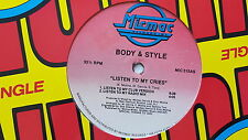 """BODY & STYLE - Listen to My Cries 1989 FREESTYLE ELECTRO 12"""" Micmac"""