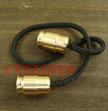 "Solid Brass Begleri Bullet shaped toy ""worry beads"" lanyard bead Zipper pull"