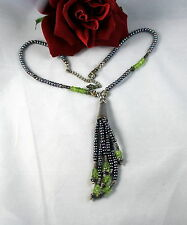 Sterling Silver  Pearl Tassel Necklace 36g Necklace  CAT RESCUE