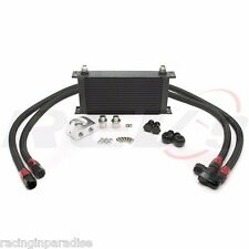 REV9 UNIVERSAL UPGRADE 19 ROW ENGINE OIL COOLER KIT BAR & PLATE CORE TURBO / NA
