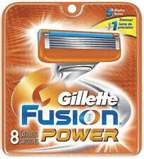 New Gillette Fusion Power Men's 8-Count Razor Blades Cartridges Refills
