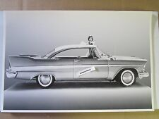"12 By 18"" Black & White PICTURE 1958 Plymouth Savoy 2 Door Hardtop"