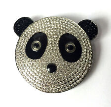 Butler and Wilson Clear Crystal Panda Head Brooch New ONLY ONE!
