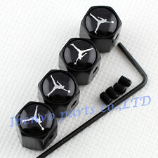 Anti-theft Black Metal Car Wheel Tyre Tire Stem Air Valve Cap For Dunking Jordan