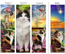 3 Set-CALICO CAT BOOKMARK Tortoise Shell Gray ART Wish Star Book CARD Ornament