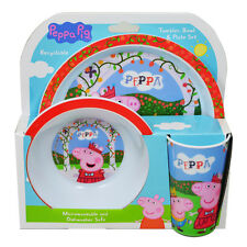 Official Product Peppa Pig 3PC Dinner Tableware Set Bowl Plate Cup New Design
